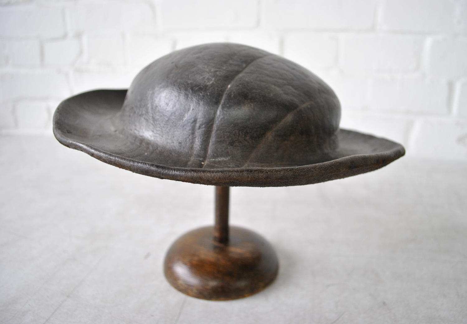 Antique Leather Costermongers Hat