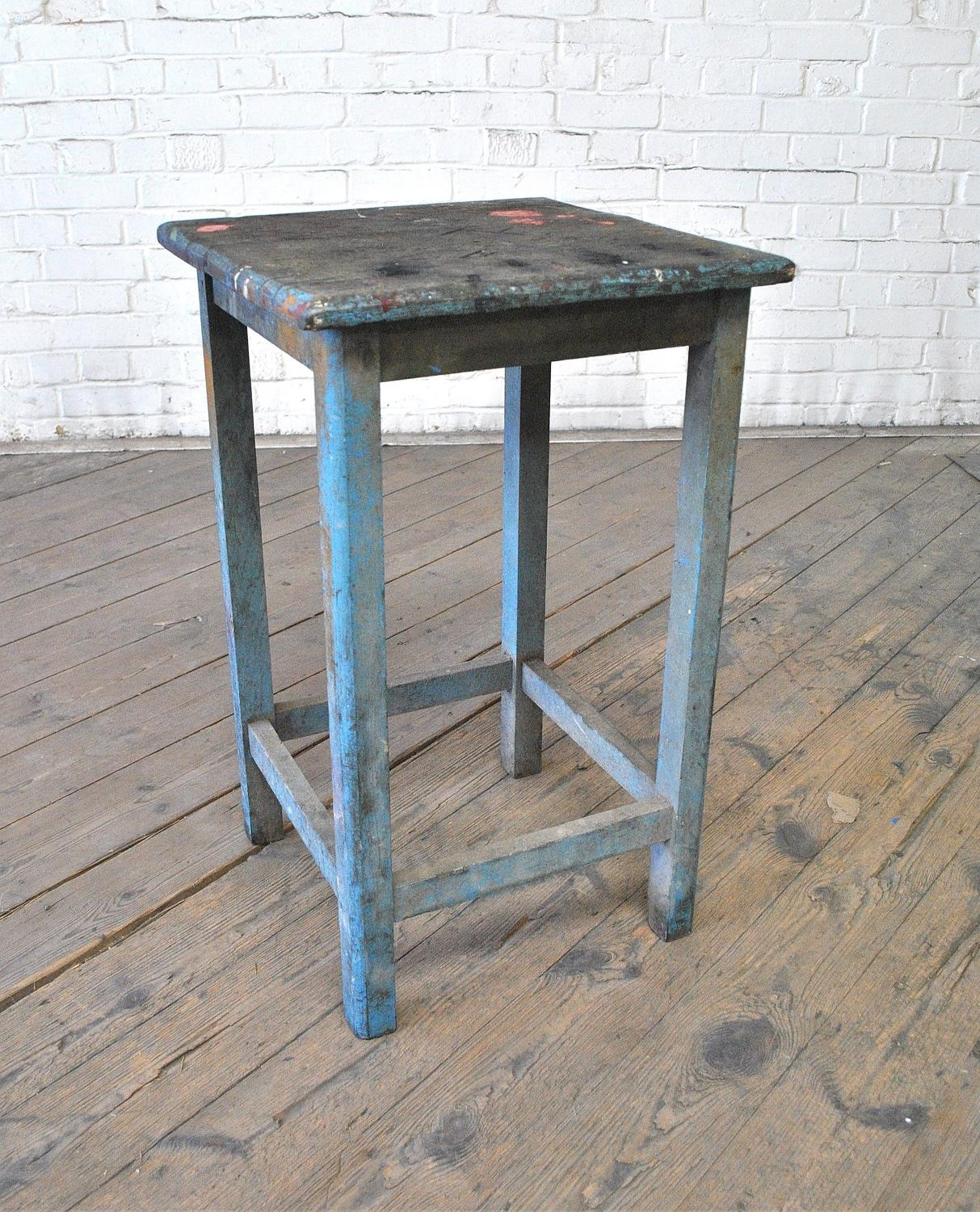 Mid Century Industrial Work Stool