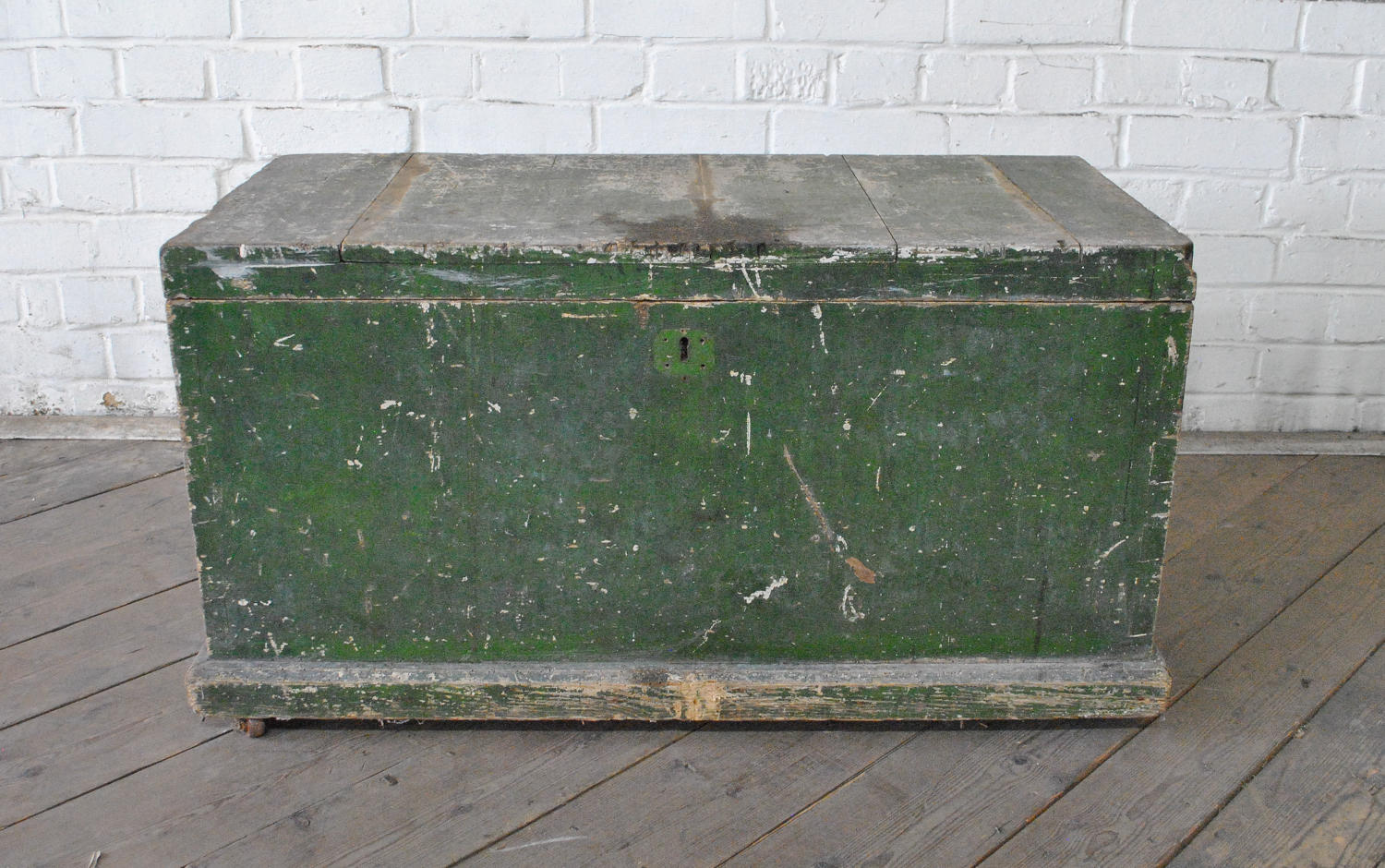 Late 19th Century Green Painted Trunk