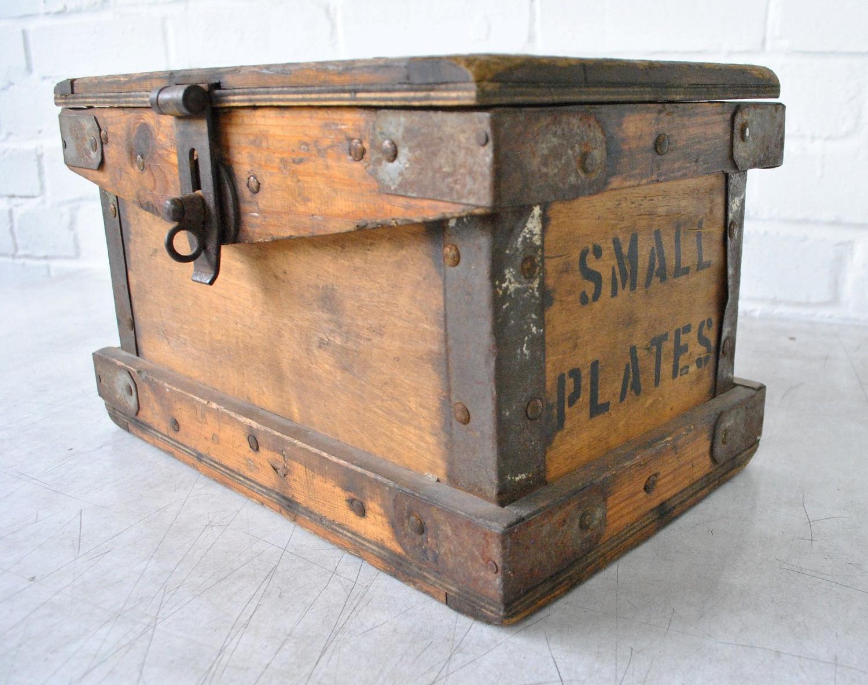 Early 20th Century Small Plates Box