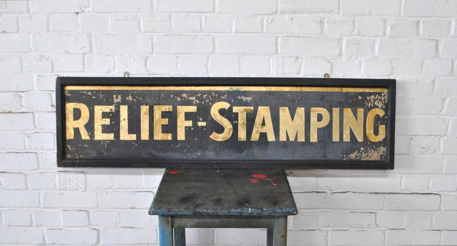 Large Early 20th Century Printers Trade Sign