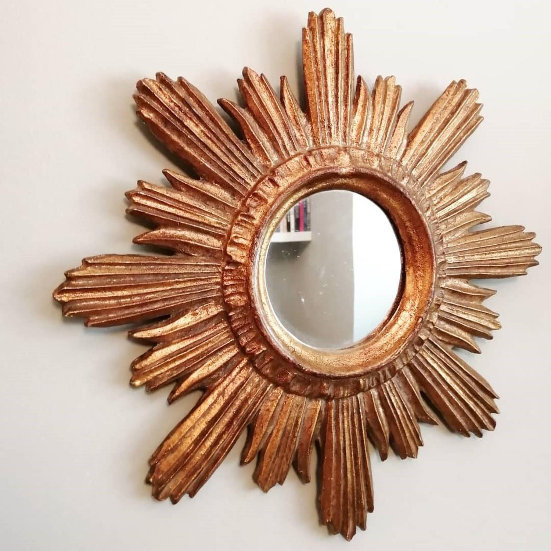 Early 20th Century Sunburst Mirror