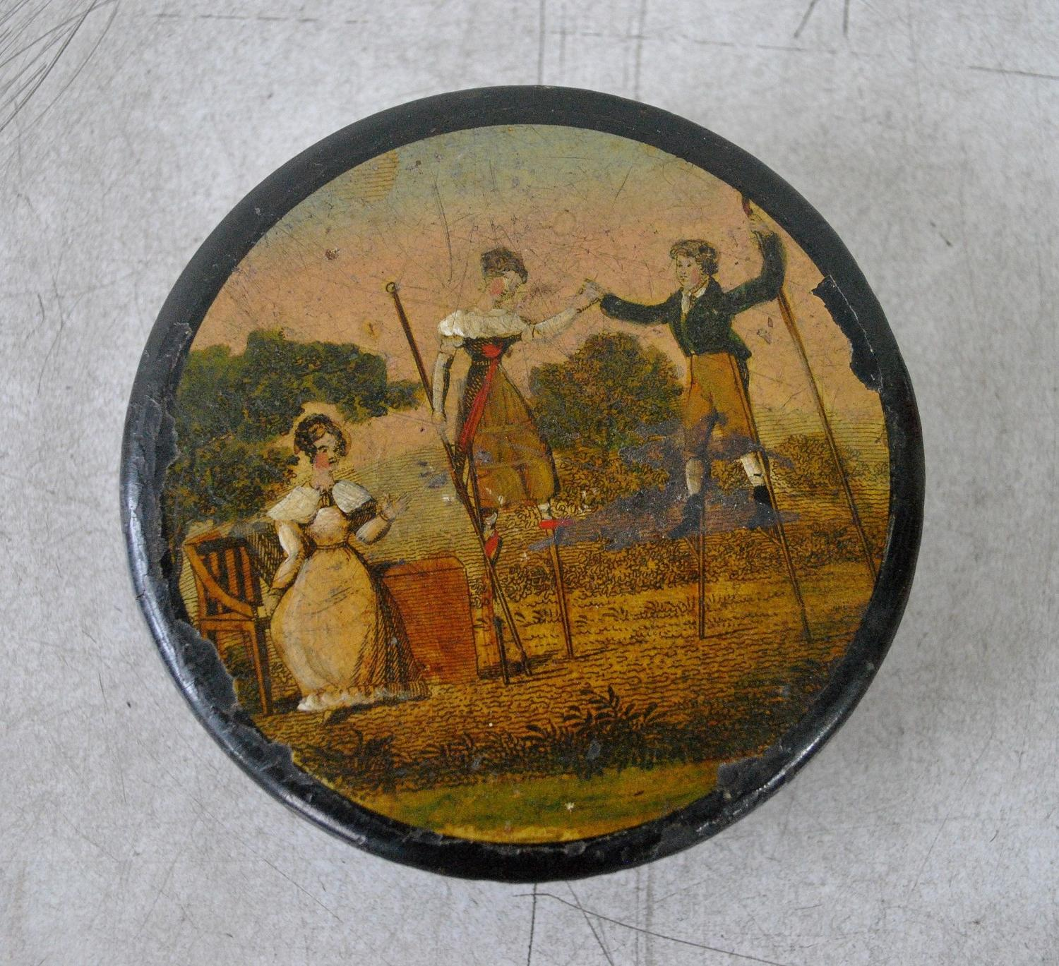 19th Century Papier Mache Snuff Box
