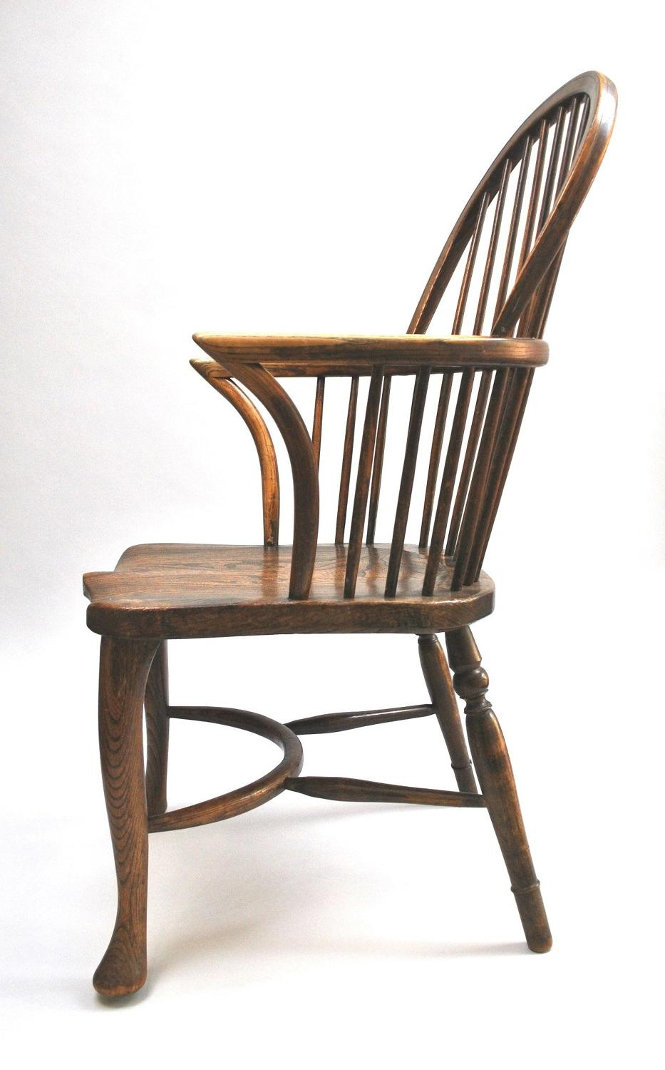 Early Thames Valley Ash & Elm Windsor Chair