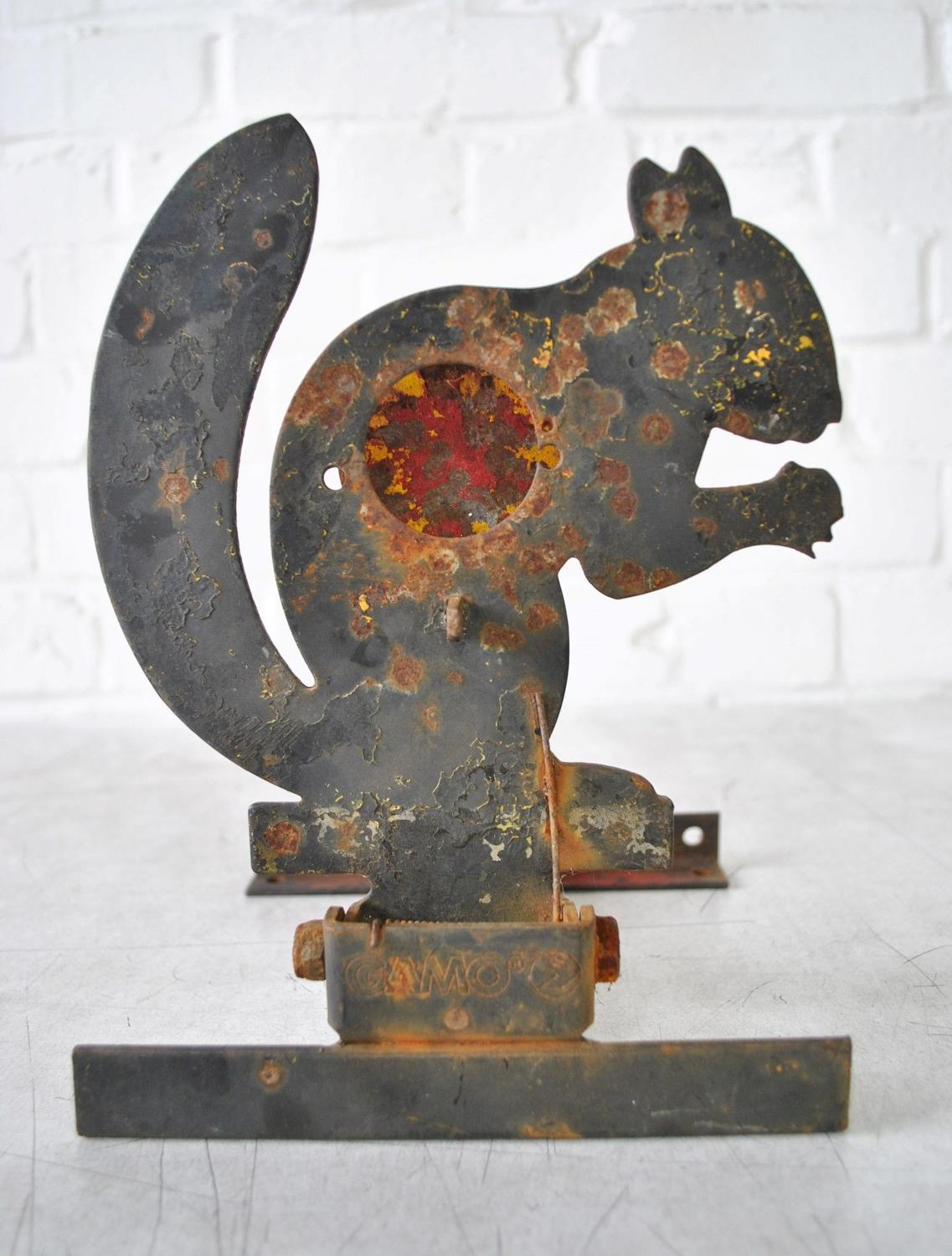 Vintage Squirrel Fairground Shooting Target