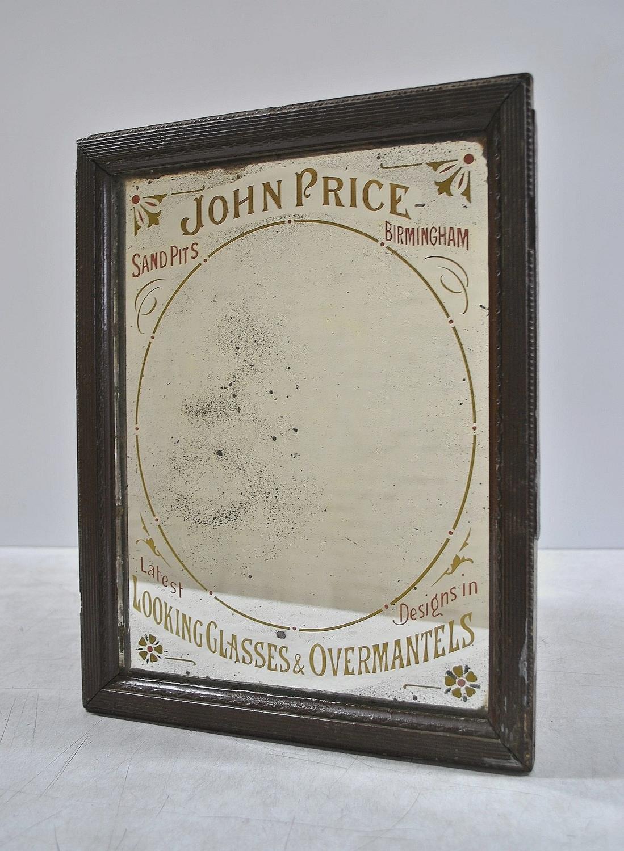 Mid 19th Century Advertising Mirror