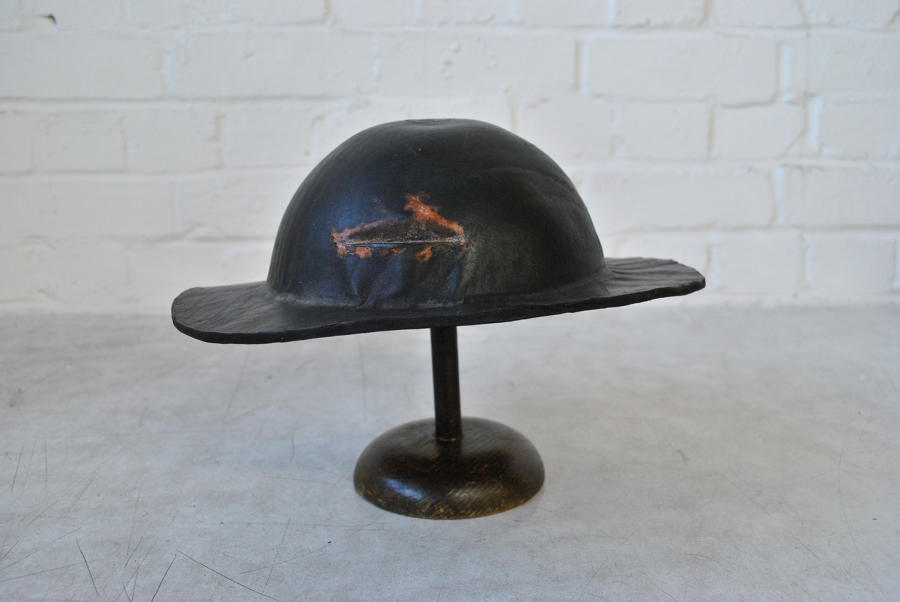 19th Century Leather Miners Hat
