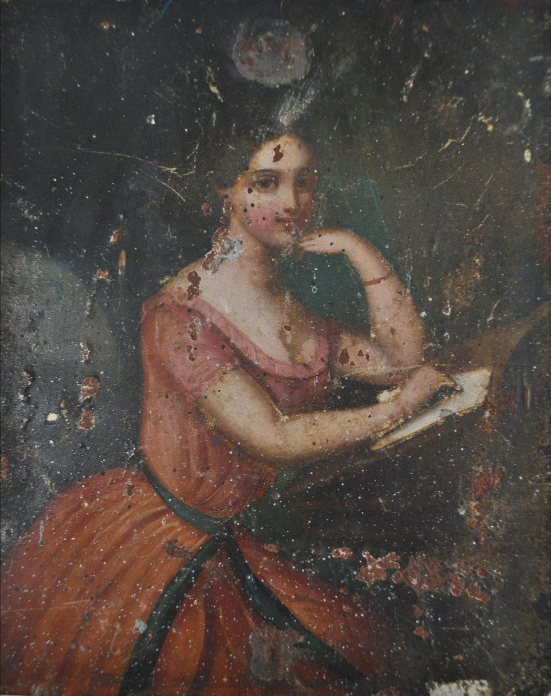 19th Century Oil On Copper Portrait
