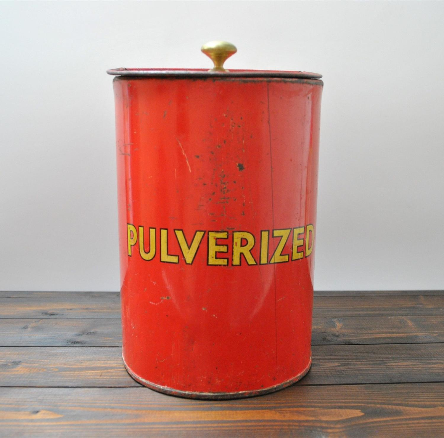 Antique Toleware Shop Display Canister