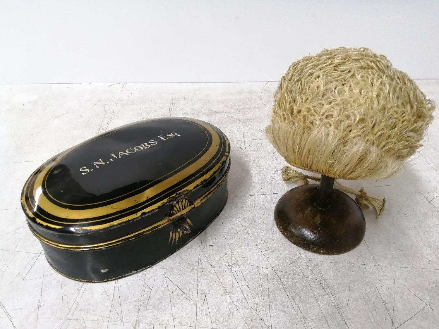 Victorian Barristers Wig & Circuit Box