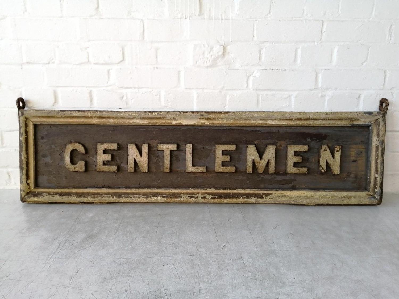 Antique Wooden Railway Sign