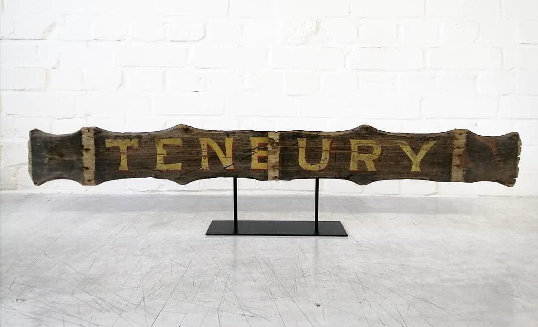 19th Century Cart Sign
