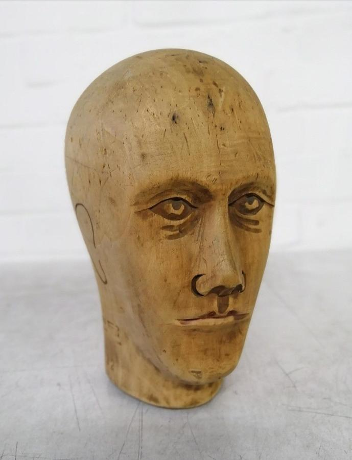 Carved Milliners Head