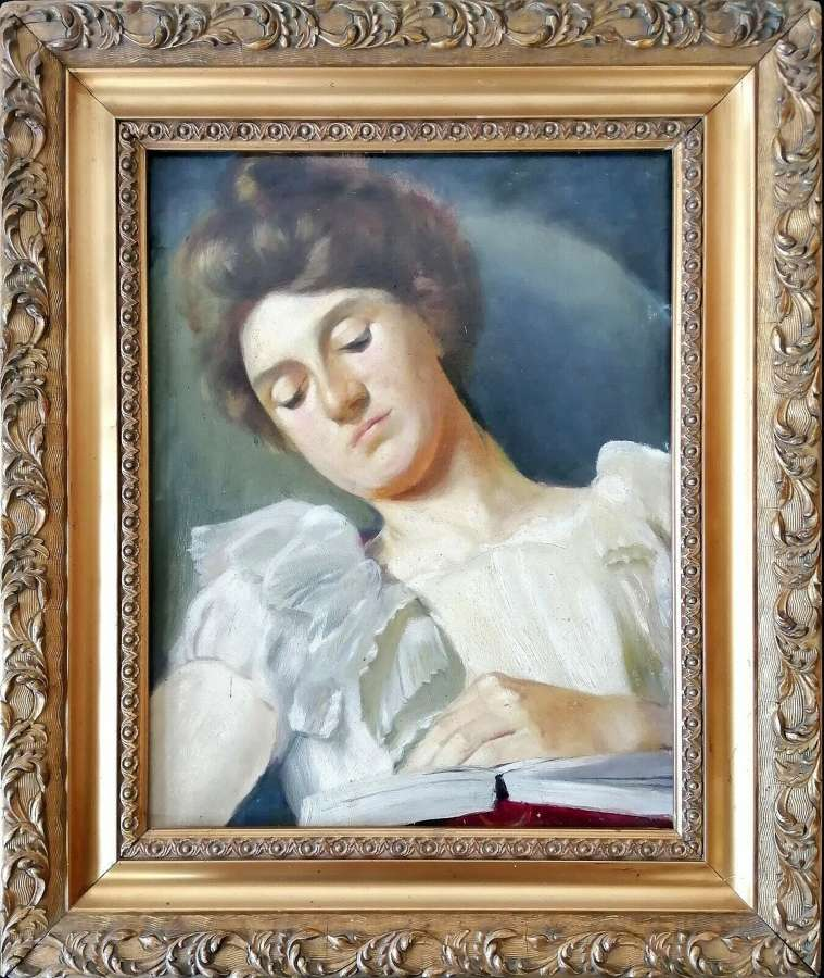 PORTRAIT OF A LADY READING