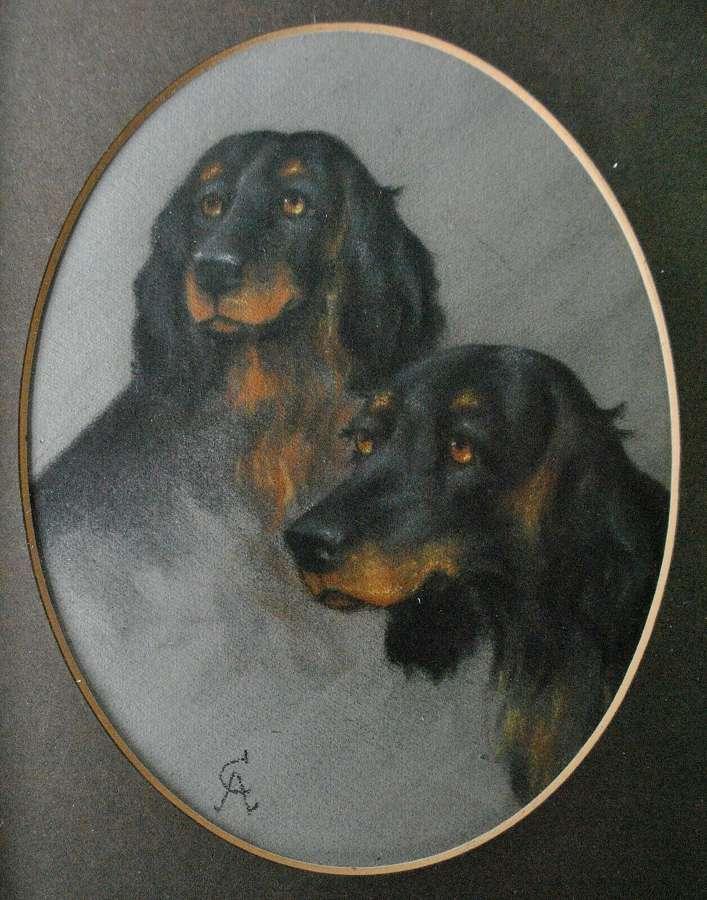 CECIL ALDIN (1870-1935) FINE PORTRAIT OF TWO HOUNDS
