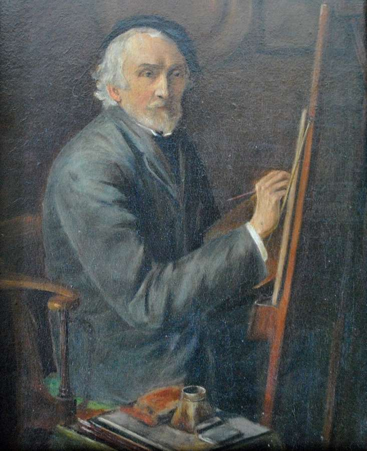 F.D. HARDY AT THE EASEL