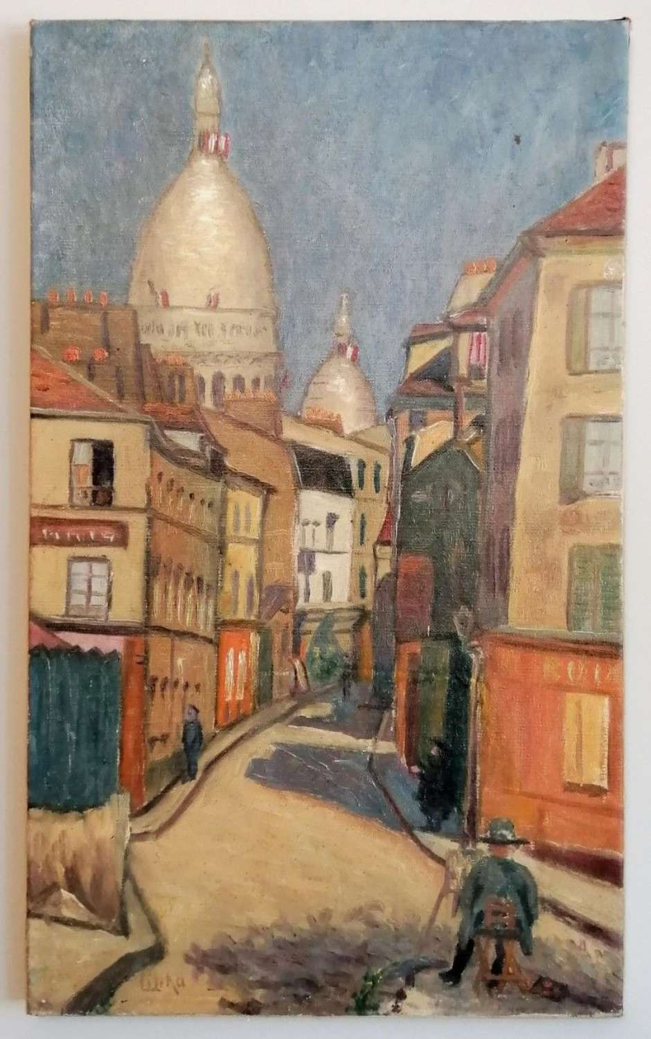 THE ARTIST AT MONTMARTRE