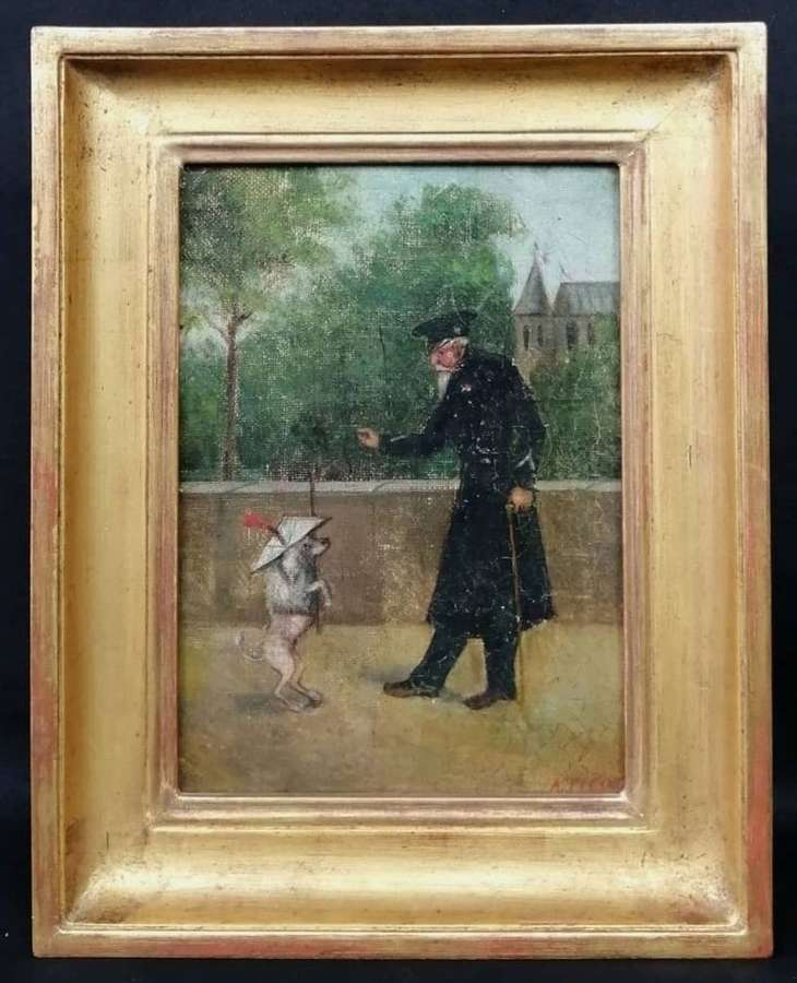 THE POODLE TRAINER (FRENCH, 19TH CENTURY)