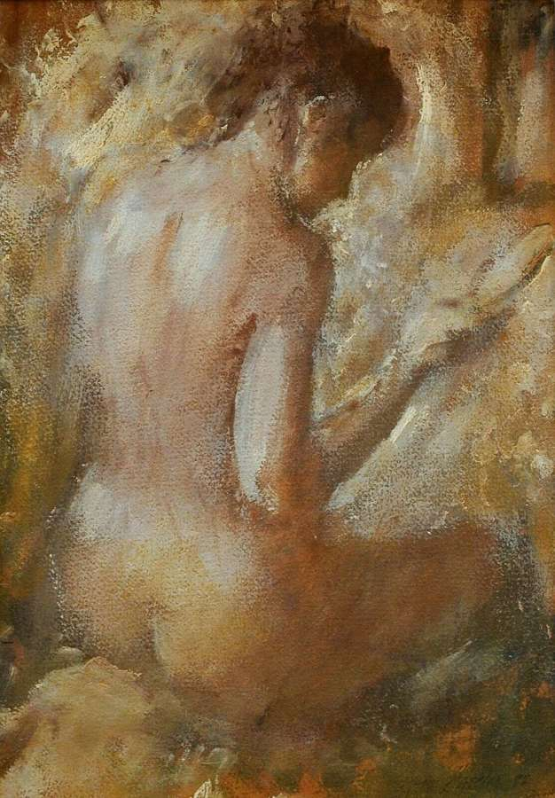 Frank Haseler (British, 1928-1998) - Nude With Looking Glass